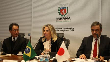 Governo do Paraná recebe comitiva de empresários japoneses