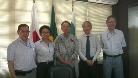 Novo associado Arata Hara é recebido pelo presidente, vice-presidente e diretoria da CCIBJ-PR